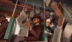 ArtStation - Train Accident, Amin Faramarzian