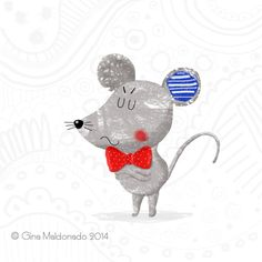 Grumpy mouse © Gina Maldonado 2014 http://gigilikestodraw.blogspot.hk/