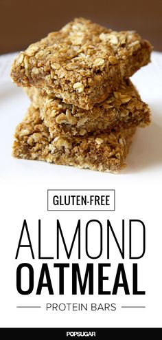 This almond oatmeal recipe has your busy morning's back. Make these gluten-free protein bars the night before, and you've got breakfast for the week.