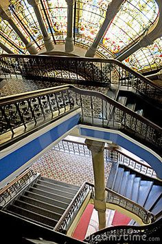 Stairway at Queen Victoria Building, Sydney, Australia.