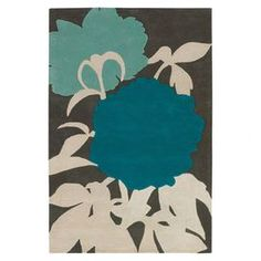 peony silhouettes idea, thoma paul, blue, area rugs, contemporary rugs, wool rugs, color scheme, new zealand, peonies