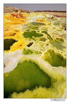 Dallol volcano, salt, sulfur, acid lake, Danakil, Afar, Ethiopia