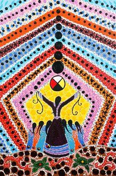 Leah Dorion art, title & date unknown.