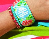Monogrammed bangle, monogrammed bracelet, monogrammed jewelry  Sweet and Southern Things by SweetSouthernThing on Etsy
