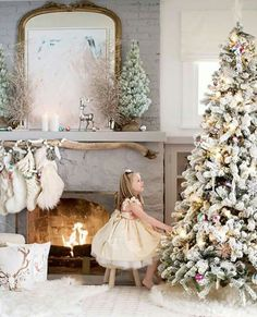 Perhaps it's the coziness of the season, the excitement from our two small daughters, the twinkling of the lights on the tree or the fresh… Cottage Christmas, Pink Christmas, All Things Christmas, Christmas And New Year, Winter Christmas, Christmas Time, Christmas Child, Christmas 2017, Christmas Ideas