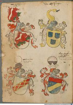 Tirol, Anton: Wappenbuch Süddeutschland, Ende 15. Jh. - 1540 Cod.icon. 310  Folio 61v
