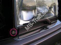 Tipps-tricks   Mercedes 200D - 500E (w124)   Ausbau der Scheinwerfer: Bild 2