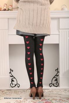 Back heart tights  bd-12a020