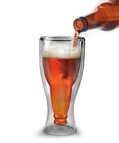 Modern Beer Bottle Within A Pilsner Glass