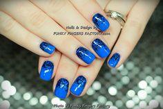 Gelish Mali-Blu Glitter Ombre nails by www.funkyfingersfactory.com