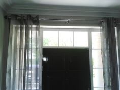 eyelet voiles door curtains and pole supplied and fitted by fabric box Fabric Boxes, Door Curtains, Blinds, Doors, Home Decor, Decoration Home, Room Decor, Shades Blinds, Blind