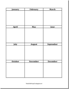 printable monthly goals form. I can write a few things each month and see if I've achieved them along the way.