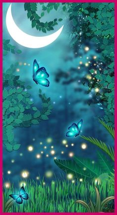 More Than 55 Magical Butterflies Dreamy Colors Butterfly Night Neon Blue Nature Moon - - Beautiful Landscape Wallpaper, Scenery Wallpaper, Cute Wallpaper Backgrounds, Pretty Wallpapers, Colorful Wallpaper, Butterfly Wallpaper Iphone, Galaxy Wallpaper, Butterfly Pictures, Butterfly Colors