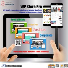 #WPStorePro is a #modern and #advanced #premium #WordPress #eCommerce / #WooCommerce #theme: https://8degreethemes.com/?wpam_id=52 It is a feature-rich online #store theme with 4 different #elegantly #designed #layouts. The theme is best suited for all kind #webshops such as #food and #drinks, #interiors, #fashion, #corporate, #technology, #accessories etc. It comprises lots of customization possibilities and #multiple options. It is a fully #responsive and #SEO friendly #template…