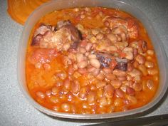 Cooked Beans made in a Power Pressure Cooker  I used Pinto Beans & Red Beans I took the beans and soaked them for six hours, then I rinsed them, and drained them again.  Put beans in the power pressure pot filling it about a fourth of the way.  Add I large diced yellow onion 1 carton of Mexican Broth 1 large can of whole tomatoes, squished up   with the juice 1Tbs cumin spice 1 sm pkg of salt pork 2 med sized ham hocks,  Only fill pot a little over half way not more, Cooked setting for 30…