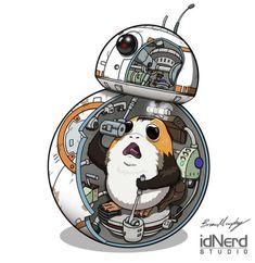 Porg in BB-8 - Brian J Murphy