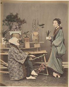 Florist  Shinichi Suzuki  (Japanese, 1835–1919)  Date: 1870s Medium: Albumen silver print from glass negative