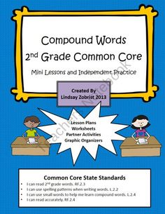 Common Core State Standards 2nd Grade Lesson: Compound Words. Great practice