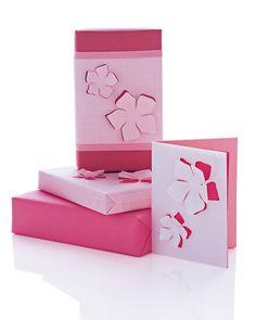 Floral-Cutout Wrap and Cards   Martha Stewart