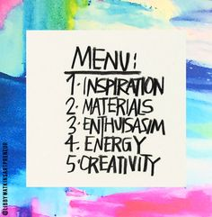 TODAY'S MENU - the 3 S'  STYLE, STUDIO, SELLING they will come