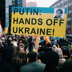 """Putin: Hands OFF Ukraine"" protest (Russian consulate in Toronto)"