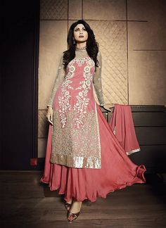 Shilpa Shetty Lehenga Style Salwar Kameez in Pink Color - EQEA076C01A6K | Indian Trendz