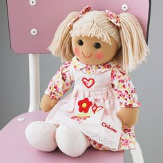 rag doll by the alphabet gift shop | notonthehighstreet.com I like the Bella doll