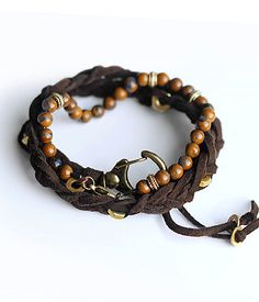 Tiger Iron & Deerskin braided Leather by DoTheExtraordinary