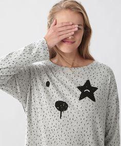 Star bear glitter top