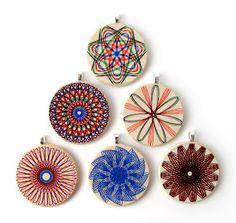 Spirograph pendants!  Fun!