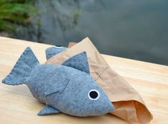 Isn't this adorable? Felt Food Fresh Fish by FiddledeeDeeCraft on Etsy, $20.00