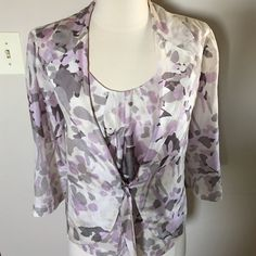 UN JOUR AILLEURS  3 piece Size 10-12 100% silk UN JOUR AILLEURS  Made in France,3 piece Jacket,top,scarf .Fits to sizes 10-12  fabric:100% silk ,jacket and top are lined,top has side zipper Jackets & Coats