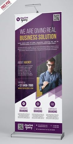 Retractable Banner Template Psd Inspirational Free Psd Creative Agency Roll Up Banner Psd Template On Pop Up Banner, Free Banner, Banner Template, Rollup Design, Rollup Banner Design, Standing Banner Design, Standee Design, Banner Design Inspiration, Creative Banners