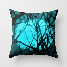 Sunset  Pillow Cover Teal Sunset Pillowcase by YarsPhotography, $30.00