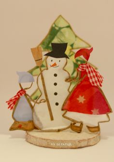 Fée de papier - Snowman
