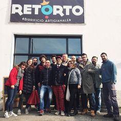 Oggi siamo in visita al birrificio Retorto insieme ai ragazzi del @mammamiacafeimola @OFioreMio Faenza e Milano Marittima e I Fanti di Ravenna. Cheeeeese!