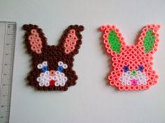 Easter Decorations Set - bunny - hama perler beads by Cristina Moran