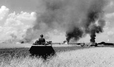 Photographs showing a Sd.Kfz. 251 carrying Waffen-SS troops to the front during the opening stages of the Kursk offensive, Operation Zitadelle in early July 1943.