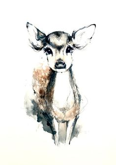 love the meaning behind getting a deer/bambi tattoo - a connection to my grandmother Illustration Manga, Illustrations, Hirsch Tattoo, Anime Kawaii, Graphic, Painting & Drawing, Deer Drawing, Ocean Drawing, Amazing Art