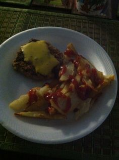 Ground turkey and fries