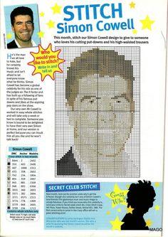 sandylandya@outlook.es Simon Cowell Cross Stitch Chart