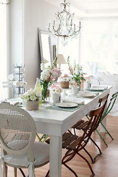 sala de jantar com móveis brancos - Pesquisa Google