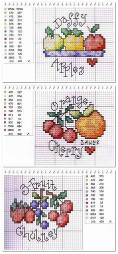 Cross Stitch Fruit Pattern | Welcome Craft