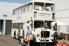 """Portland, Oregon, U.S.A. Used and vintage clothing store, """"Lodekka."""" It would make you excited if you visited because you can enjoy shopping in a classic London bus!"""