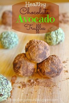 This paleo & vegan easy healthy chocolate avocado truffle recipe is sure to become a favorite in your home. Warning - they are quite addictive!