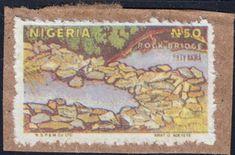 Nigeria Postal Forgery of Bridge on Paper Vintage World Maps, Bridge, Stamps, Paper, Seals, Bridges, Postage Stamps, Stamp, Bro