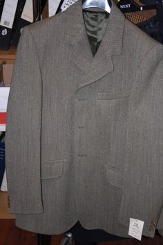 Mens Keeper Tweed Hacking Jacket - Green