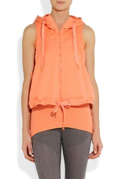 Adidas by Stella McCartney | Layered cotton hooded vest | NET-A-PORTER.COM
