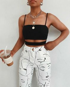 Teen Fashion Outfits, Mode Outfits, Look Fashion, Girl Outfits, 80s Fashion, Modest Fashion, Street Fashion, Cute Casual Outfits, Retro Outfits