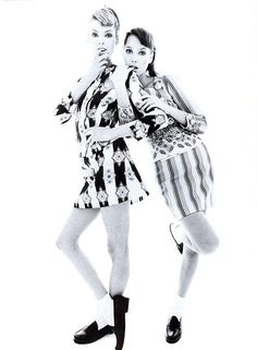 Versace by Steven Meisel 1994 | Linda Evangelista & Christy Turlington